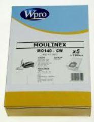 MO140CW SACS ASPIRATEUR (X5) WPRO POUR  adaptable sur MOULINEX