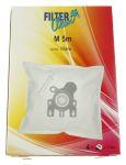 M5M SAC ASPI NON TISSÉ MICROMAX, 4 PIÈCES +1 FILTRES