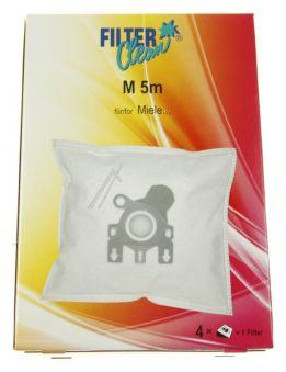 M5M SAC ASPI NON TISS? MICROMAX, 4 PI?CES +1 FILTRES