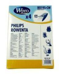 RO195-CW SAC WPRO BOÎTE adaptable sur ROWENTA ZR81 / 4 SACS