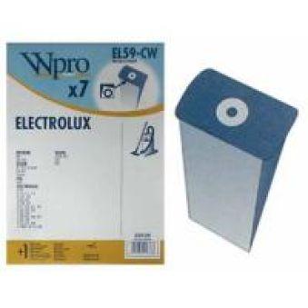 EL59CW EL59-CW SACS ASPIRATEUR (X7) WPRO POUR  adaptable sur ELECTROLUX