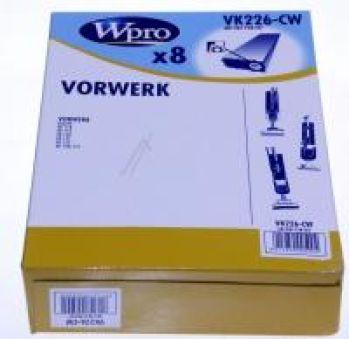 VK226-CW SACS ASPIRATEUR WPRO (X8) POUR  adaptable sur VORWERK