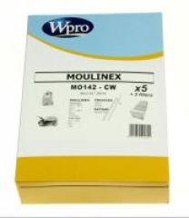MO142CW SAC WPRO BOÎTE adaptable sur MOULINEX POWERCLEAN / 5 SACS + 1 FM + 1 MF