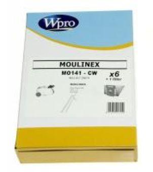 MO141CW SACS ASPIRATEURS BOITE CARTON adaptable sur MOULINEX / 6 SACS + 1 FM