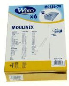 MO138CW SAC X6 + 1 FILTRE adaptable sur MOULINEX COMPACT