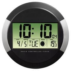 hama Horloge murale 'PP245', montre radio, en plastique,noir