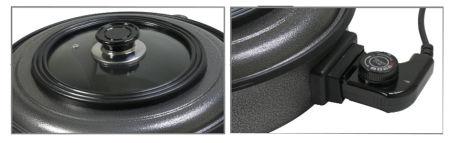 CLATRONIC Poêle électrique multifonction PP 3402, rond, noir